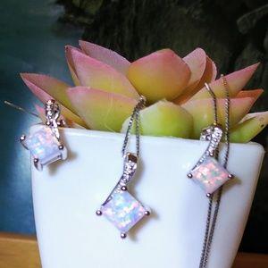 🆕🌺 White Fire Opal Set